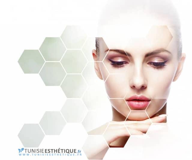 Logo Tunisie esthetique avec visage femme