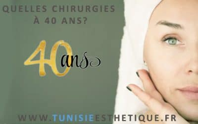 La chirurgie esthétique à 40 ans